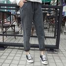 【特價$229】縮腰褲309煙灰色松緊高...