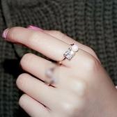 戒指 925純銀 鑲鑽-迷人珍珠生日情人節禮物女開口戒3色73dv2[時尚巴黎]
