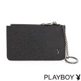 PLAYBOY- 鑰匙零錢夾 MODE系列-經典黑