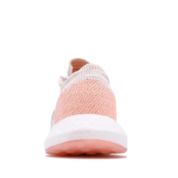 adidas 慢跑鞋 PureBOOST GO W 粉紅 橘 編織鞋面 街頭路跑 女鞋 運動鞋【PUMP306】 G54519