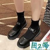 牛津鞋 小皮鞋女夏ins潮日系jk洛麗塔圓頭英倫風瑪麗珍單鞋【風之海】