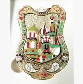 【俄羅斯城堡4號】俄羅斯特色雙面化妝鏡 折疊隨身小鏡子