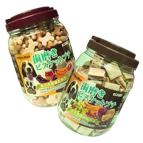 【培菓幸福寵物專營店】PettyMan《家庭號》烘培點心 (3種口味*1桶)