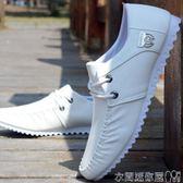 皮鞋2019春季新款白色休閒鞋子男潮鞋夏季透氣單鞋豆豆鞋韓版潮流皮鞋 衣間迷你屋