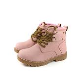 HABU 馬丁鞋 高筒鞋 綁帶 粉紅色 童鞋 RR99-PI no024