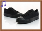 ★.AB6803❤ 愛麗絲的最愛☆❤  基本款舒適軟底全黑帆布鞋 [全黑款] *(現貨+預購)