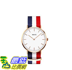 [106美國直購] 8K 玫瑰金手錶 Naivo 18K Rose Gold over Stainless Steel Classic Cambridge Watch