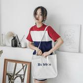 帆布袋 字母 帆布包 手提袋 磁釦 小方包--手提/側背包/斜背包【SPA174】 ENTER  07/19