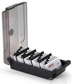 大容量名片盒名片收納盒桌面塑料名片架批量收納分類整理名片夾商務名片卡包創意名片包 電購3C