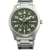 【台南 時代鐘錶 ORIENT】東方錶 FUNG2001F SP系列 飛行運動石英錶 綠面 42mm