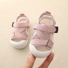 女童涼鞋 寶寶女童涼鞋子網面透氣男小童夏季嬰幼兒軟底包頭學步鞋-Ballet朵朵