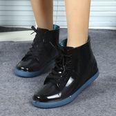 中大童系帶兒童雨鞋加絨保暖男童女童小孩雨靴小學生防滑水鞋膠鞋