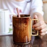 創意美式掛耳咖啡杯杯子 簡約陶瓷馬克杯