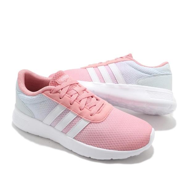 adidas 休閒鞋 Lite Racer 粉紅 白 女鞋 漸層 基本款 休閒慢跑鞋 運動鞋 【ACS】 FX3975