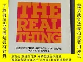二手書博民逛書店The罕見Real Thing: Extracts from U