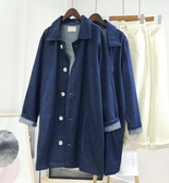 牛仔外套 女寬鬆春夏新款復古中長款氣質百搭顯瘦風衣 - 歐美韓熱銷