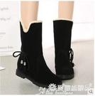 中筒靴 冬季款厚底內增高韓版女鞋中筒靴兩穿女靴子馬丁靴棉靴雪地靴 愛麗絲