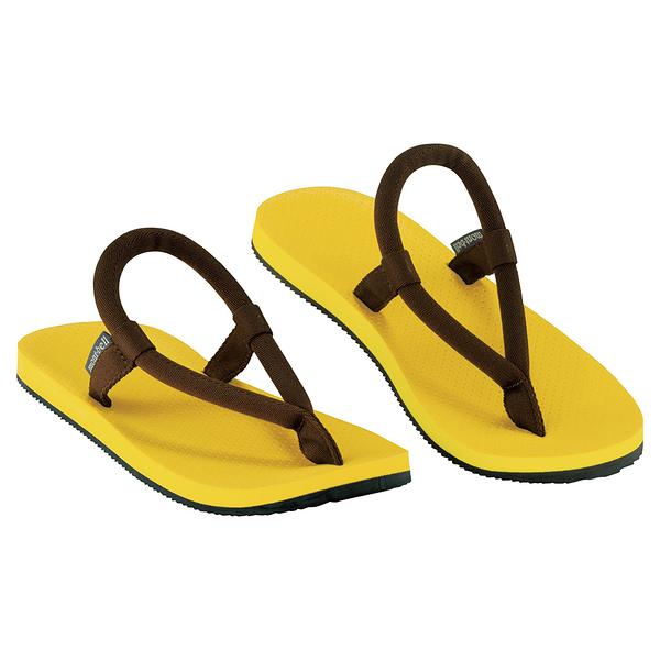 [好也戶外]mont-bell SLIP-ON SANDALS夾腳拖鞋 黃/棕 NO.1129477