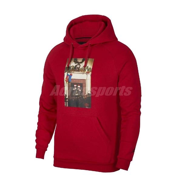 Nike 長袖T恤 Jordan Jumpman Chimney Hoodie 紅 彩 男款 帽T 運動休閒 喬丹 【ACS】 CT4886-687