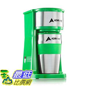【美國代購】AdirChef Grab N Go個人咖啡壺 含15盎司 旅行杯(綠色)