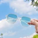 超輕近視變粉色眼鏡女潮素顏防紫外線平光鏡男大框顯瘦太陽鏡