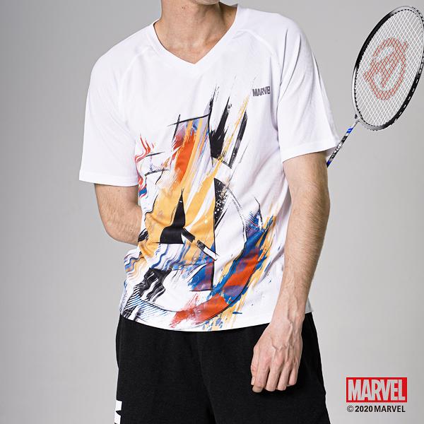 MARVEL漫威運動服飾 復仇者潑彩設計 運動短袖T恤 休閒運動上衣 [M19195602]