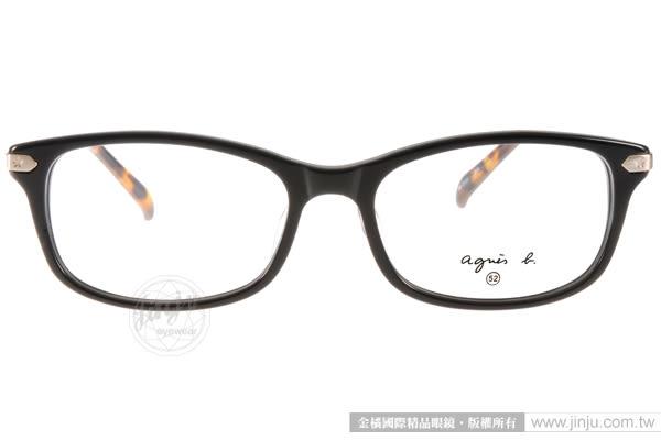 agnes b.光學眼鏡 AB2107 BCA (黑-琥珀) 潮流簡約百搭款 # 金橘眼鏡