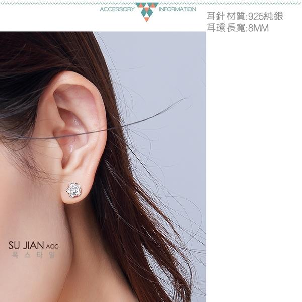 素簡手作《ES035》正白k~耳環 珍珠耳環 蝴蝶結耳環 韓劇耳環 愛心耳環 花朵耳環 純銀耳針