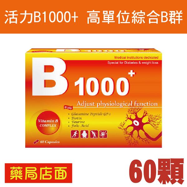 活力B1000+高單位綜合B群 60顆 元氣健康館