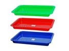 菜盤 500長方皿 塑膠盆 公文籃 平籃 洗菜籃 塑膠籃 拜拜盤 長方盤 方盆 深皿 MIT【塔克】