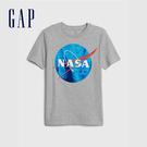 Gap男童 創意元素印花休閒短袖T恤 588563-石楠灰