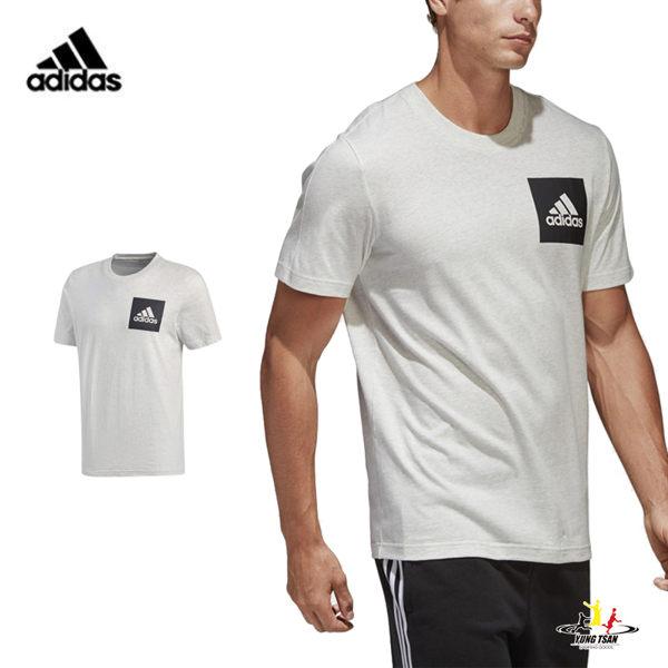 Adidas Logo 男 白黑 運動上衣 短袖 短T 棉T 短袖 籃球 愛迪達 慢跑 健身 上衣 BS4862