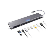 AZDOME 【日本代購】12 in1 USB Type C 集線器4K HDMI 1000Mbps