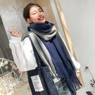 圍巾 圍巾女冬季正韓百搭學生女士加厚披肩情侶款秋冬毛線針織少女圍脖交換禮物