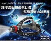 【全館折扣】 CREE原廠燈珠 送 充電器 鋰電x2 爆強光鋼鐵頭燈25檔旋轉變焦 HANLIN336TK2C