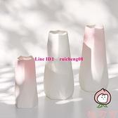 漸變陶瓷干花花瓶水養家居裝飾北歐簡約客廳插花擺件【桃可可服飾】