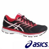 【asics 亞瑟士】(男)專業慢跑鞋 跑步鞋 紅黑色