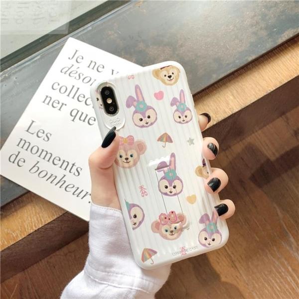 ins可愛紫色兔子8plus蘋果XS手機殼11promax/xr支架殼iphone7女6s