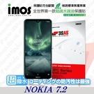 【現貨】 NOKIA 7.2   iMOS 3SAS 防潑水 防指紋 疏油疏水 螢幕保護貼