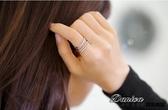 戒指 現貨 正韓劇 美女的誕生 韓藝瑟同款 微鑲 多層交叉 開口 水晶戒指(2色) S5090 批發價