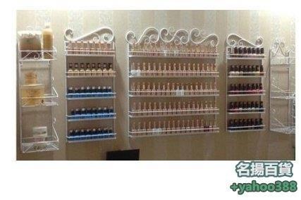 W百貨571美甲店化妝品展示架 鐵藝指甲油架 精品展示櫃 壁掛指甲油架 鐵藝指甲