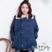 betty's貝蒂思 雙層排釦鋪棉外套(深藍)