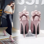 2019性感時尚12CM超高跟鞋細跟裸粉色裸色恨天高漆皮12公分單鞋女 歐尼曼家具館