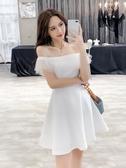 洋裝小禮服女裝氣質性感一字露肩顯瘦連衣裙2020流行短裙子時尚夏 伊羅 新品