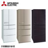 【MITSUBISHI三菱】605公升變頻六門冰箱MR-JX61C水晶白
