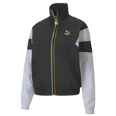 Puma TFS 女款 黑色 外套 防風外套 立領外套 運動 休閒 撞色 風衣外套 59818001
