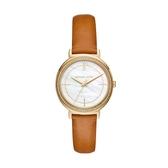 MICHAEL KORS 晶鑽質感真皮腕錶/MK2712