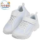 《布布童鞋》Moonstar日本白色3E寬楦競速款兒童機能運動鞋(17~23公分) [ I1J351M ]