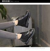 靴子 馬丁靴女英倫風學生韓版百搭短靴子女繫帶內增高女鞋  瑪麗蘇