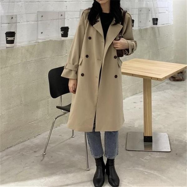 風衣外套 風衣女中長款小個子秋裝2021年新款韓版百搭寬松氣質大衣秋季外套 霓裳細軟